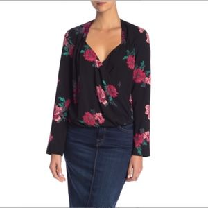 Free Press Floral Patterned Blouse Top